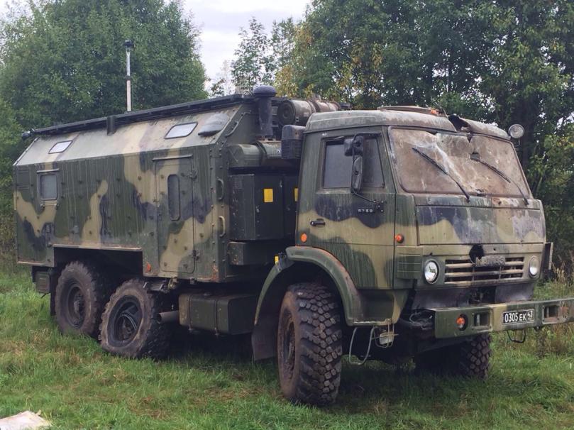 damaged Kamaz after Ka-52 strike