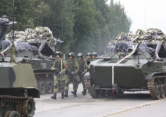 VDV returning from Kaliningrad