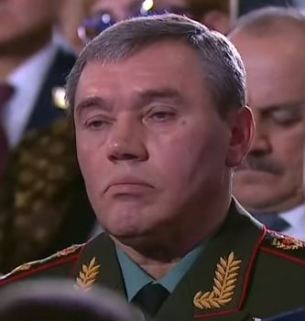Gerasimov's face during talk of Sarmat
