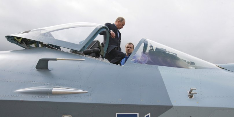 Putin looking at Su-57