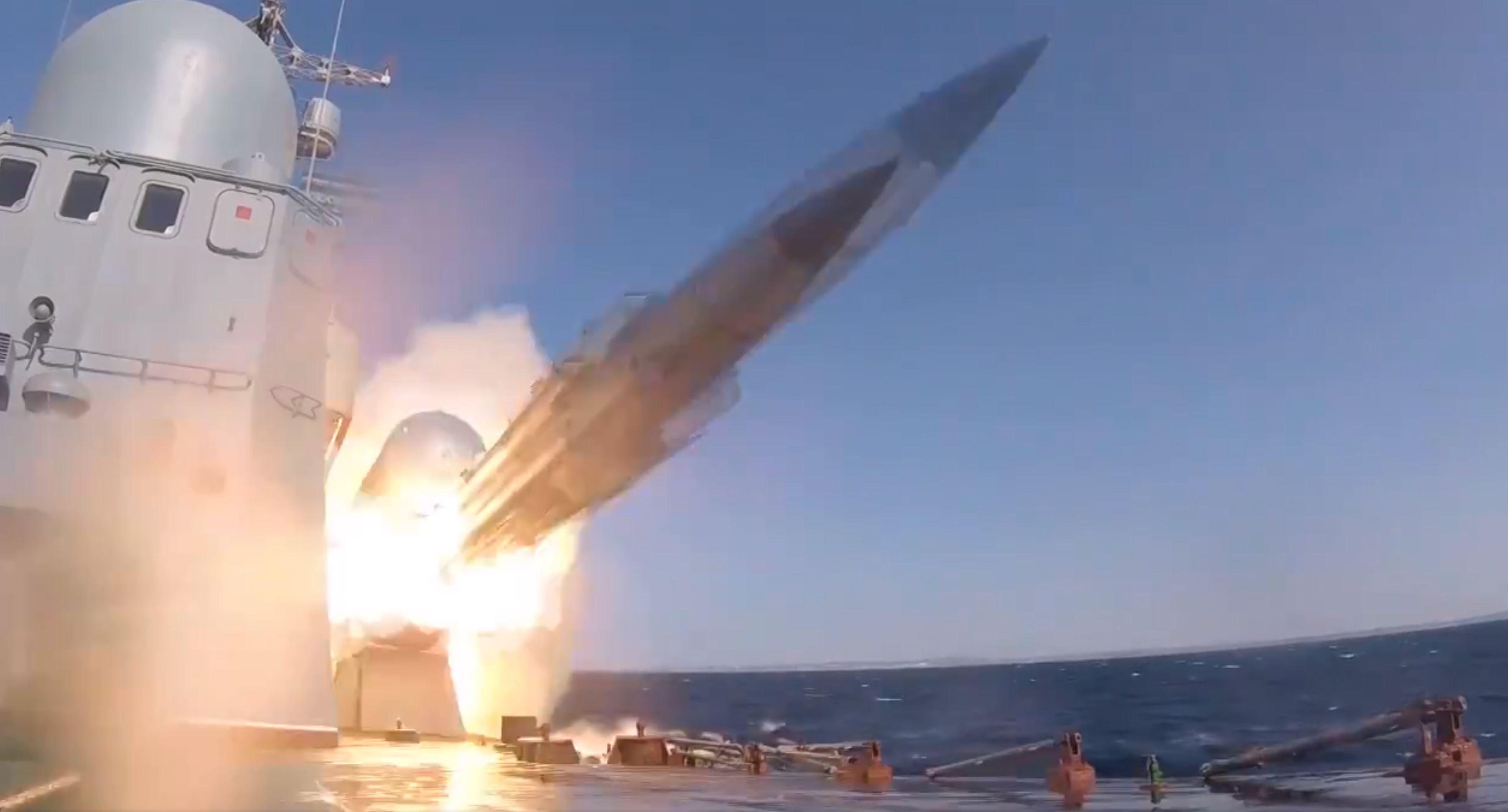 BSF missile corvette firing 2