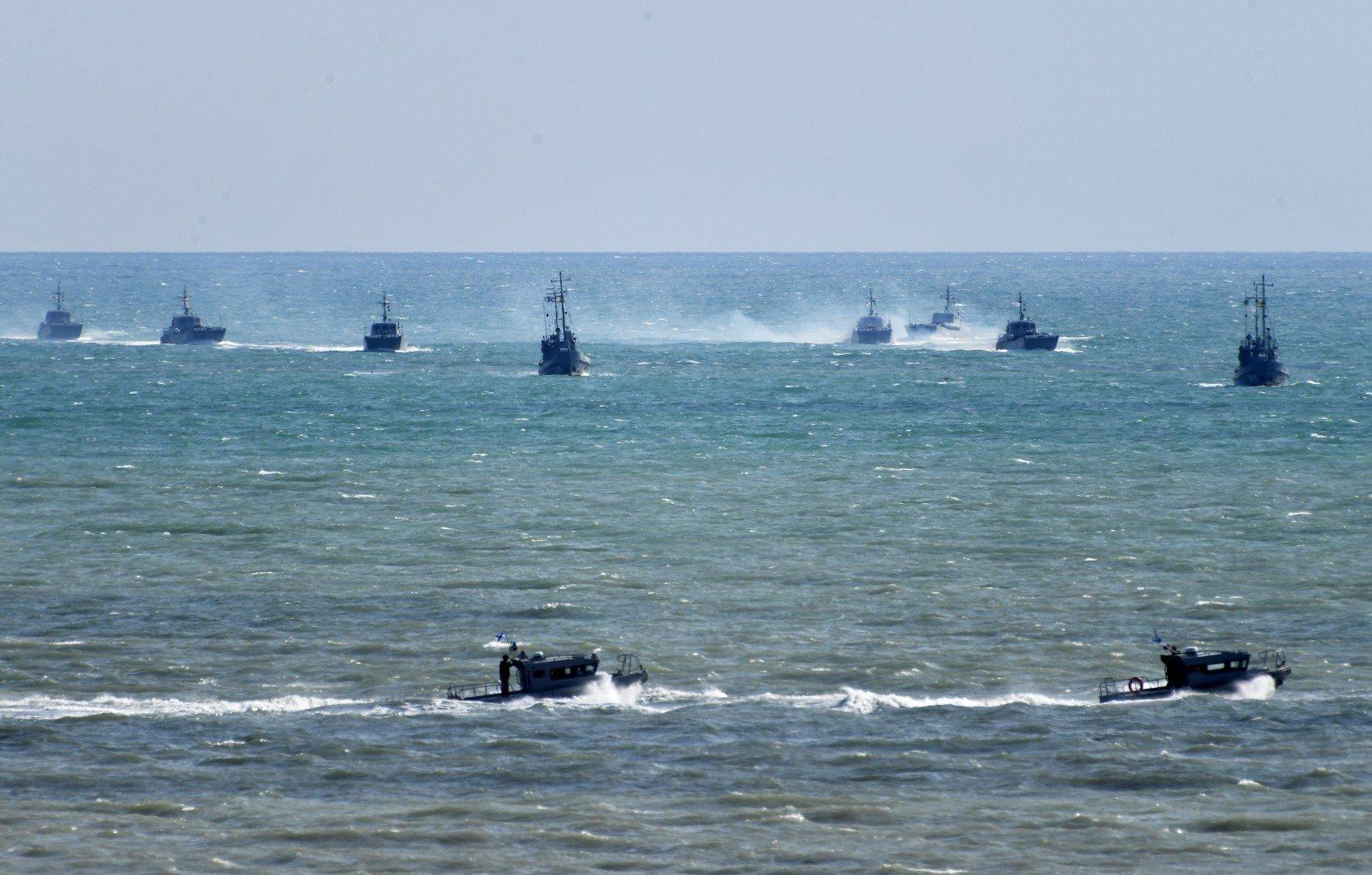 Caspian flotilla landing 3