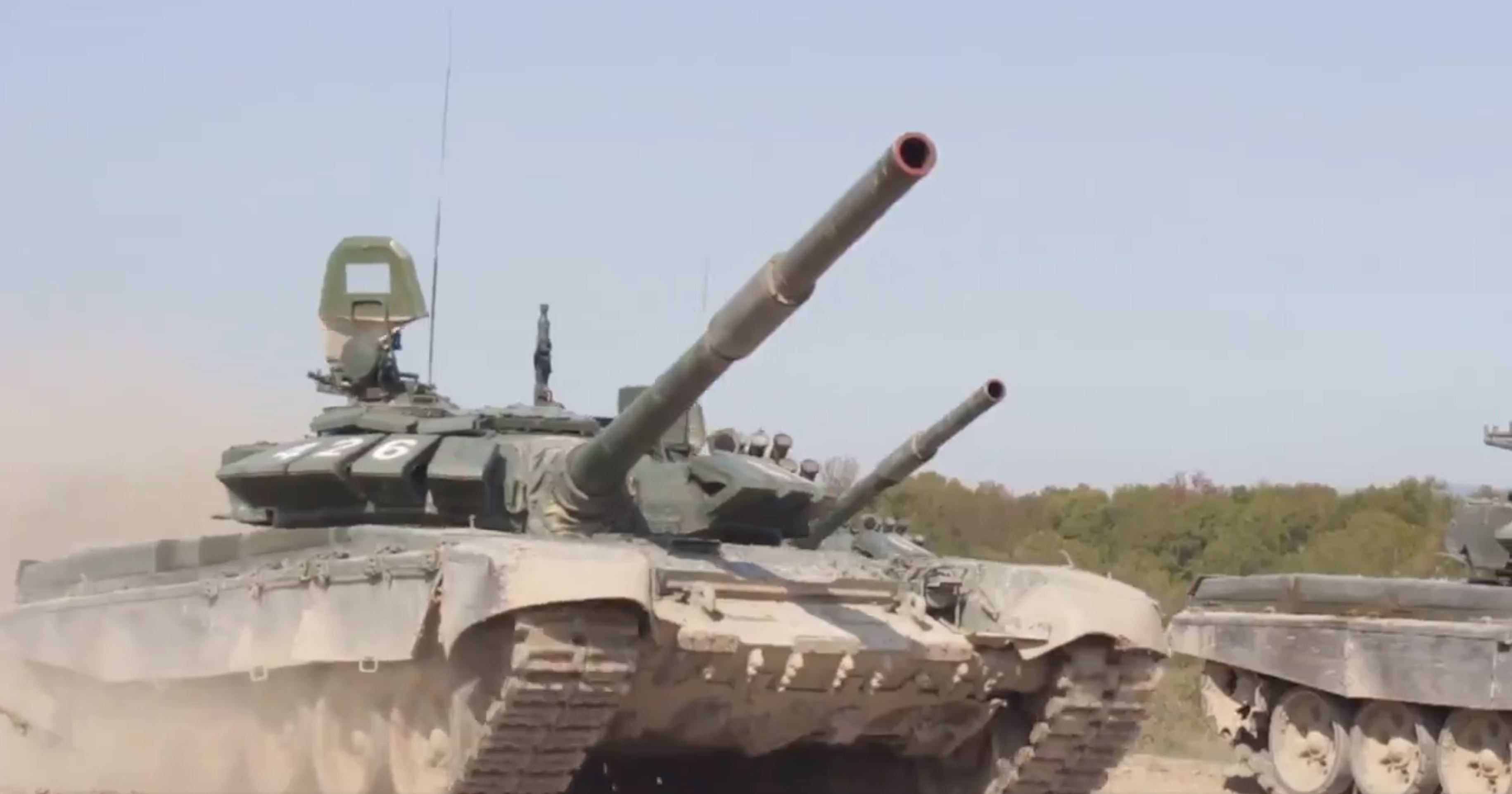 T-72B3s assigned to VDV assault battalion