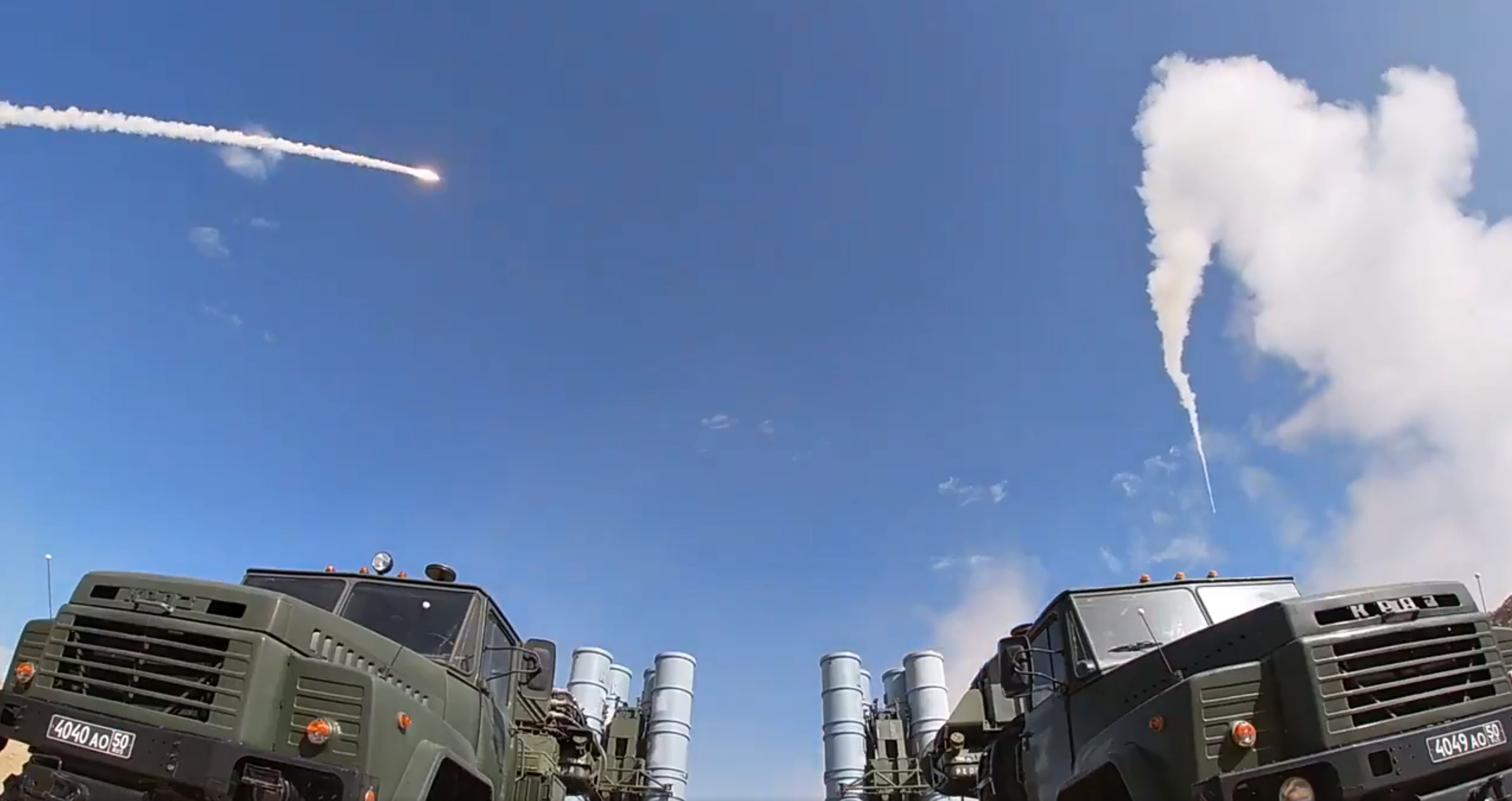 Western MD units S-300 firing at Ashuluk