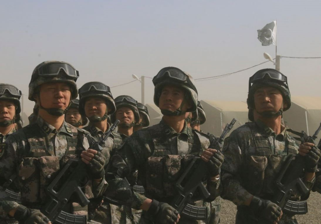 PLA troops